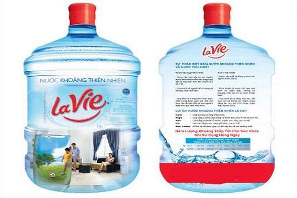 bình nước Lavie 20 lít có vòi
