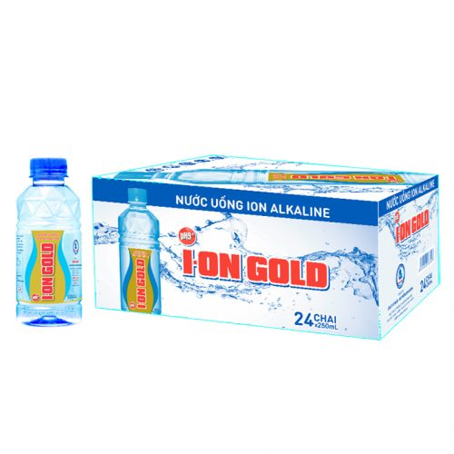 Thùng 24 chai nước Ion Gold 250ml